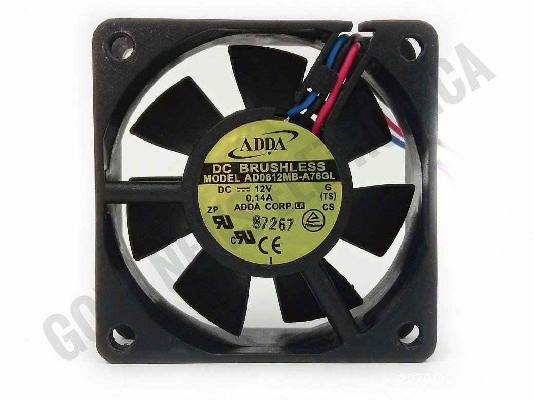 12 peças Fan Cooler Ventilador 60x60x25mm ADDA 3FIOS 12V 0.14A AD0612MB-A76GL