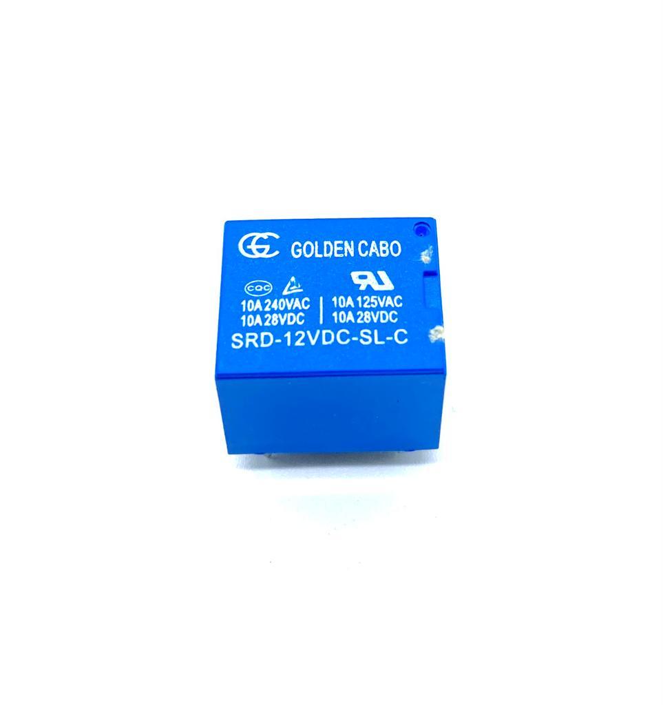 KIT COM 02 PEÇAS - RELE SRD-12VDC-SL-C 12VDC GOLDEN CABO (SRD12VDCSLC)