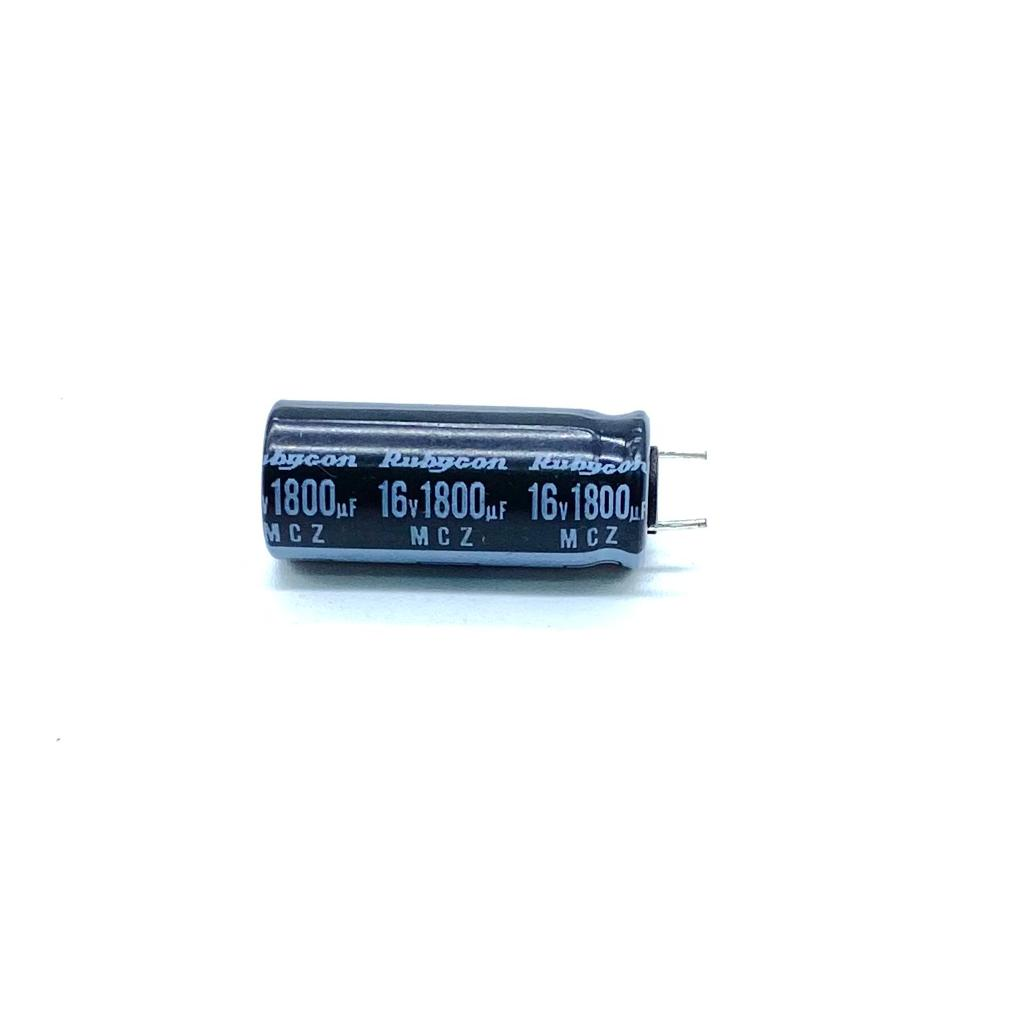 KIT COM 05 PEÇAS - CAPACITOR ELETROLITICO 1800UF 16V RADIAL 10X25MM 105º C 16MCZ1800MTUPCR10X25 RUBYCON