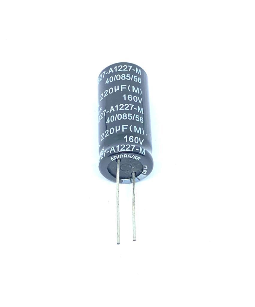 KIT COM 05 PEÇAS - CAPACITOR ELETROLITICO 220UF 160V RADIAL 18X36MM B43827-A1227-M EPCOS