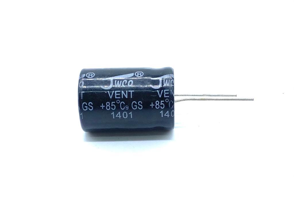 KIT COM 05 PEÇAS - CAPACITOR ELETROLITICO 330UF 200V RADIAL 22X32MM VENT JWCO