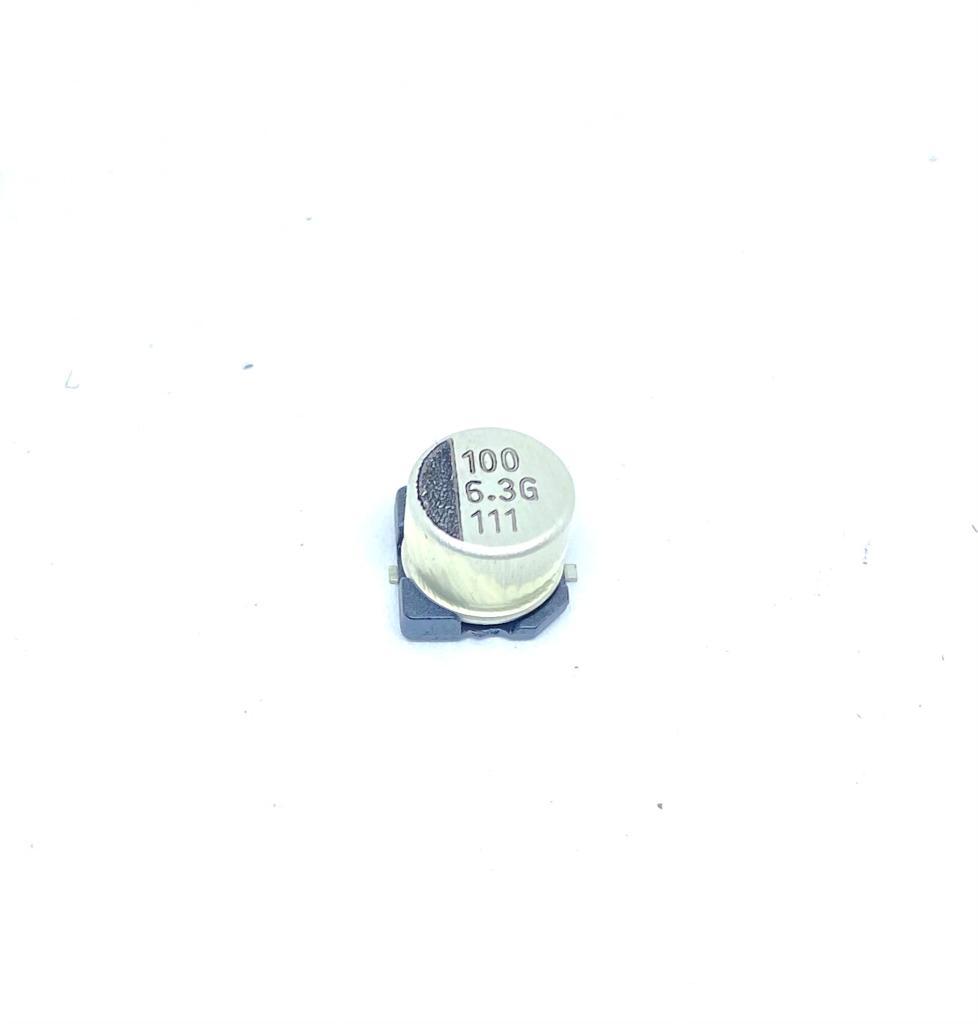 KIT COM 05 PEÇAS - CAPACITOR ELETROLITICO SMD 100UF 6,3V 6,3X5,4MM VGV107M6R3SOANE010 131279-0 LUXON