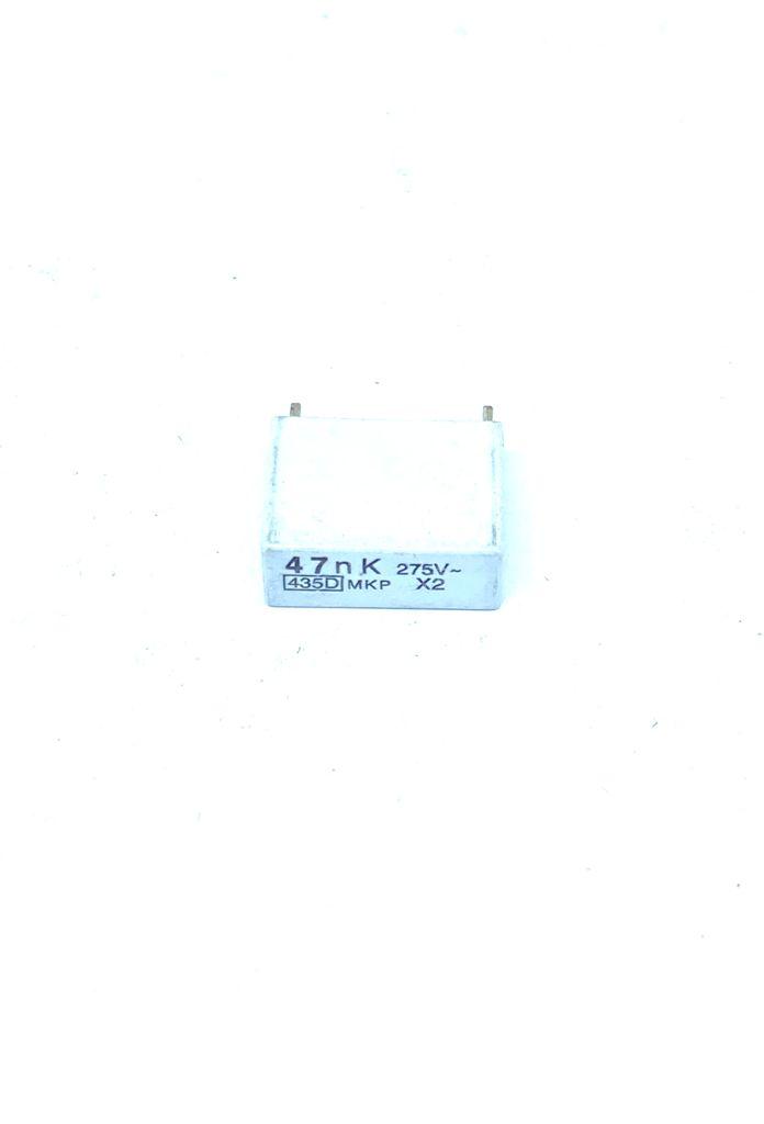 KIT COM 05 PEÇAS - CAPACITOR SUPRESSOR X2 47K 275VAC 17X7X13MM PASSO 15MM 435D SIC-SAFCO (0,047UF 47NK)