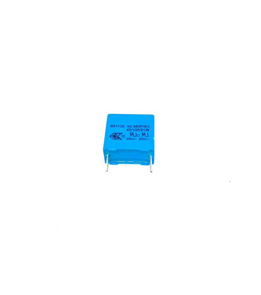 KIT COM 05 PEÇAS - CAPACITOR SUPRESSOR X2 MKP 220K 275V AC 18X9X17MM PASSO 15MM B81130 EPCOS (0,22UF 220NF)