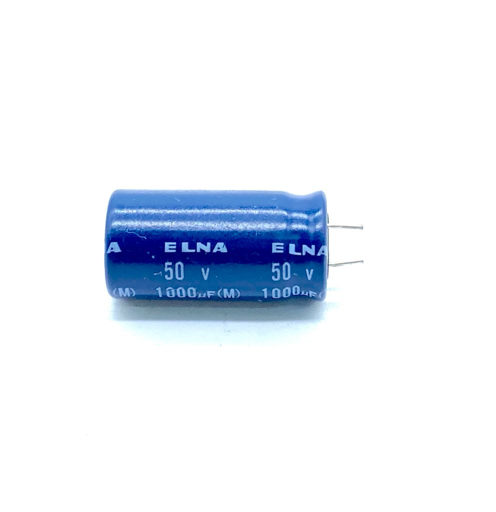 KIT COM 10 PEÇAS - CAPACITOR ELETROLITICO 1000UF 50V RADIAL 13X26MM ELNA