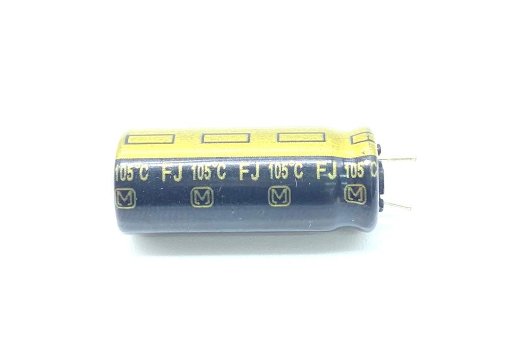 KIT COM 10 PEÇAS - CAPACITOR ELETROLITICO 1800UF 16V RADIAL 10X25MM 105º C EEU-FJ1C182YY PANASONIC (EEUFJ1C182YY)