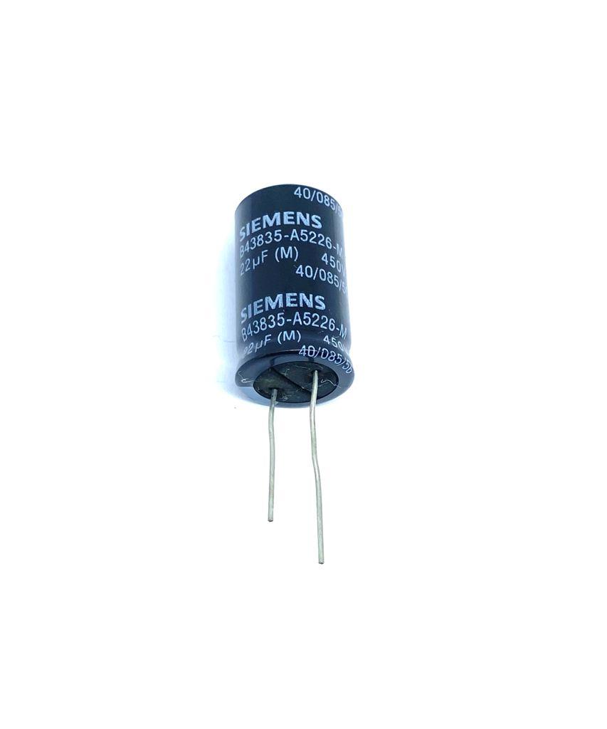 KIT COM 10 PEÇAS - CAPACITOR ELETROLITICO 22UF 400V RADIAL 18X32MM B43835-A5226-M SIEMENS