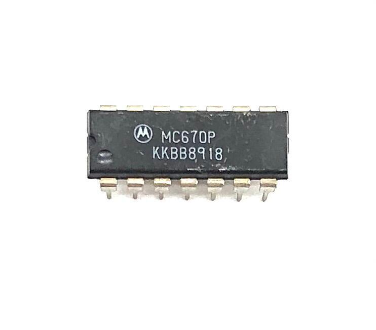KIT COM 10 PEÇAS - CIRCUITO INTEGRADO DIP 14 PINOS MC670P MOTOROLA
