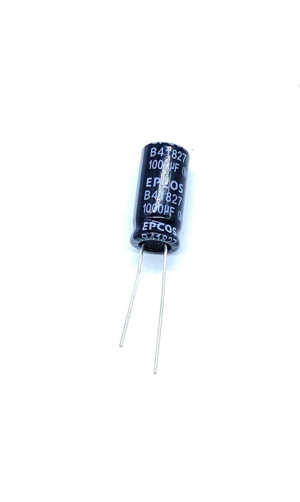 KIT COM 20 PEÇAS - CAPACITOR ELETROLITICO 1000UF 25V RADIAL 10X22MM B41827 EPCOS