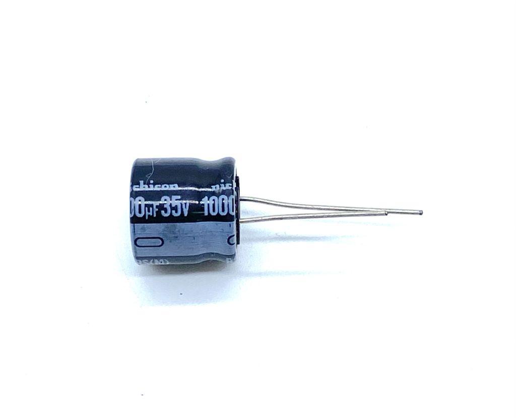 KIT COM 20 PEÇAS - CAPACITOR ELETROLITICO 1000UF 35V RADIAL 16X16MM NICHICON