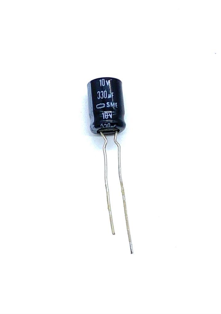 KIT COM 50 PEÇAS - CAPACITOR ELETROLITICO 330UF 10V RADIAL 8X12MM SME