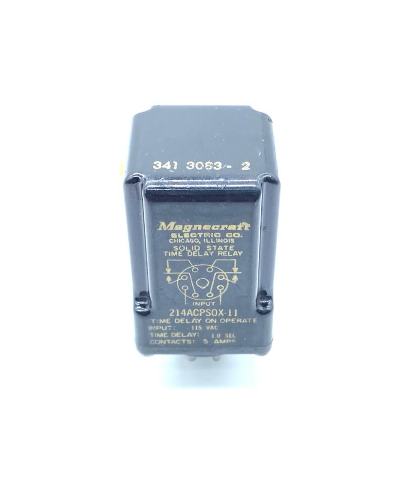 RELE 214ACPSOX-11 3411663-2 115VAC TEMPO DE ATRASO 1 SEGUNDO MAGNECRAFT (214ACPSOX11 34116632)