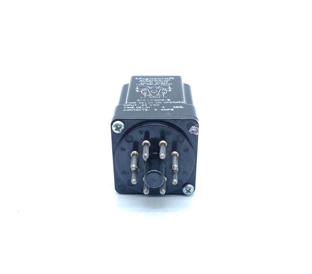 RELE 214CPSOX-6 3413083-1 24VDC TEMPO DE ATRASO 0,5 SEGUNDO MAGNECRAFT (214CPSOX6 34130831)