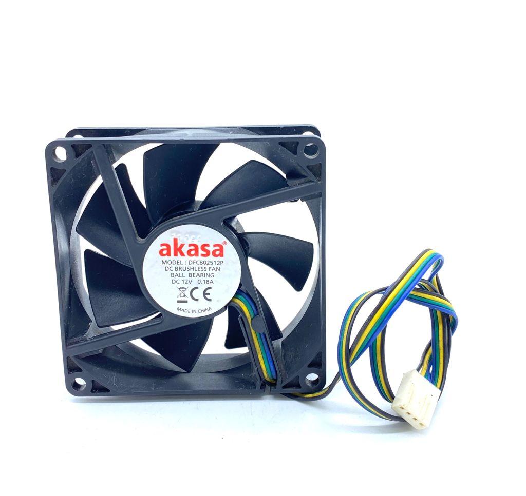 VENTILADOR FAN COOLER 80X80X25MM 12VDC 0,18A 04FIOS DFC802512P AKASA