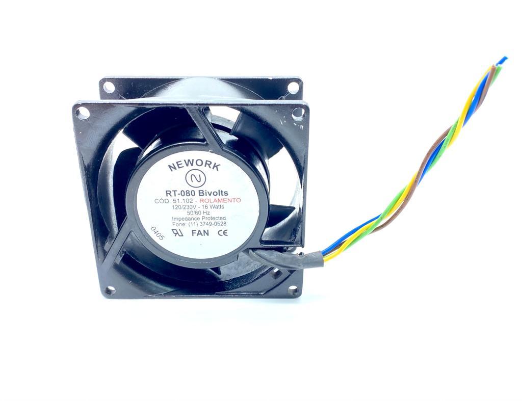 VENTILADOR FAN COOLER 80X80X38MM RT-080 BIVOLT  51.102 NEWORK (RT080 51102)