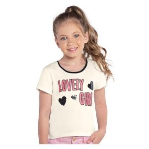 Blusinha Infantil Feminina Lovely Girl Rovitex 312510