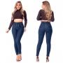 Calça Jeans Cintura Alta Feminina R.I.19 72193