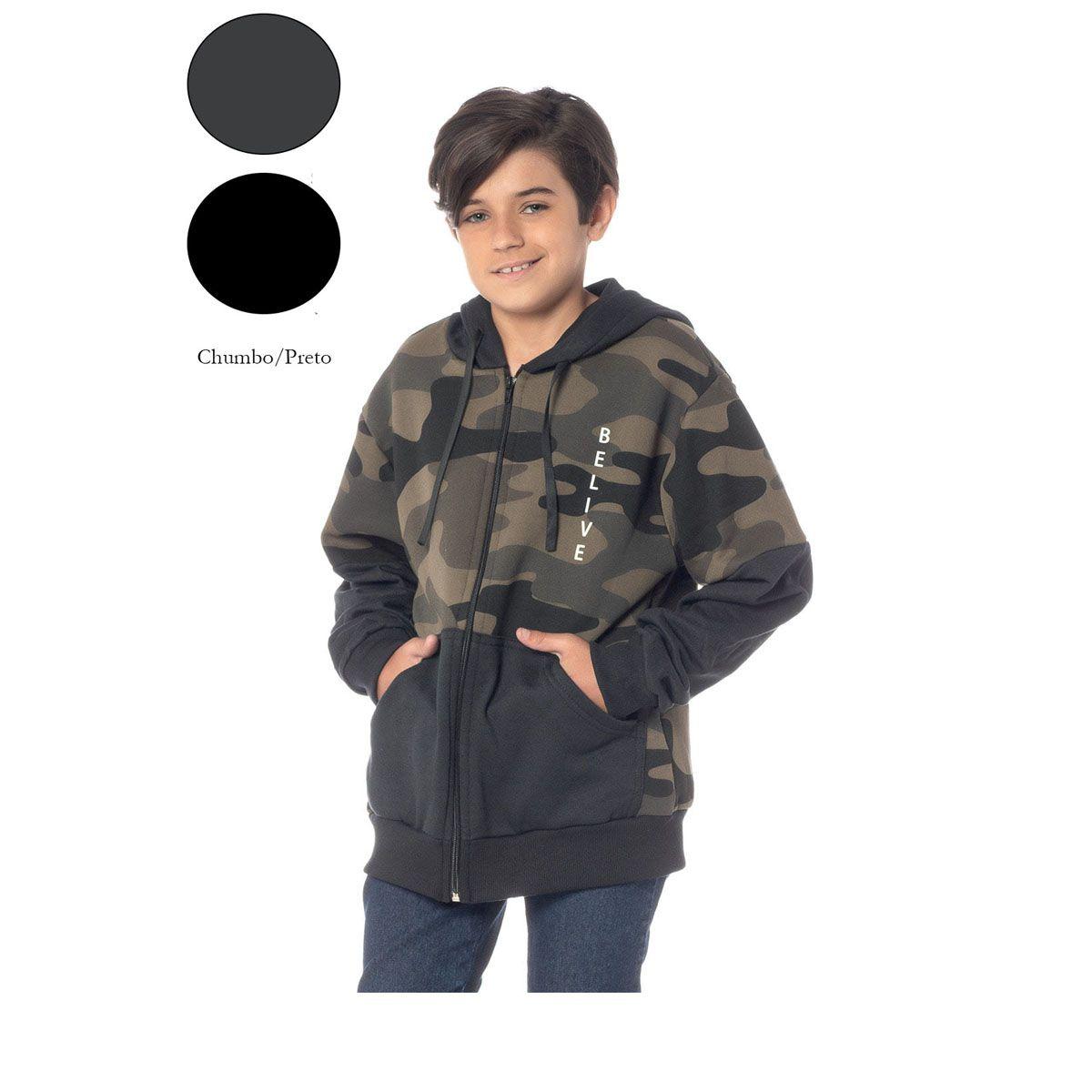 Blusa De Moletom Camuflada Infantil Masculina 16035