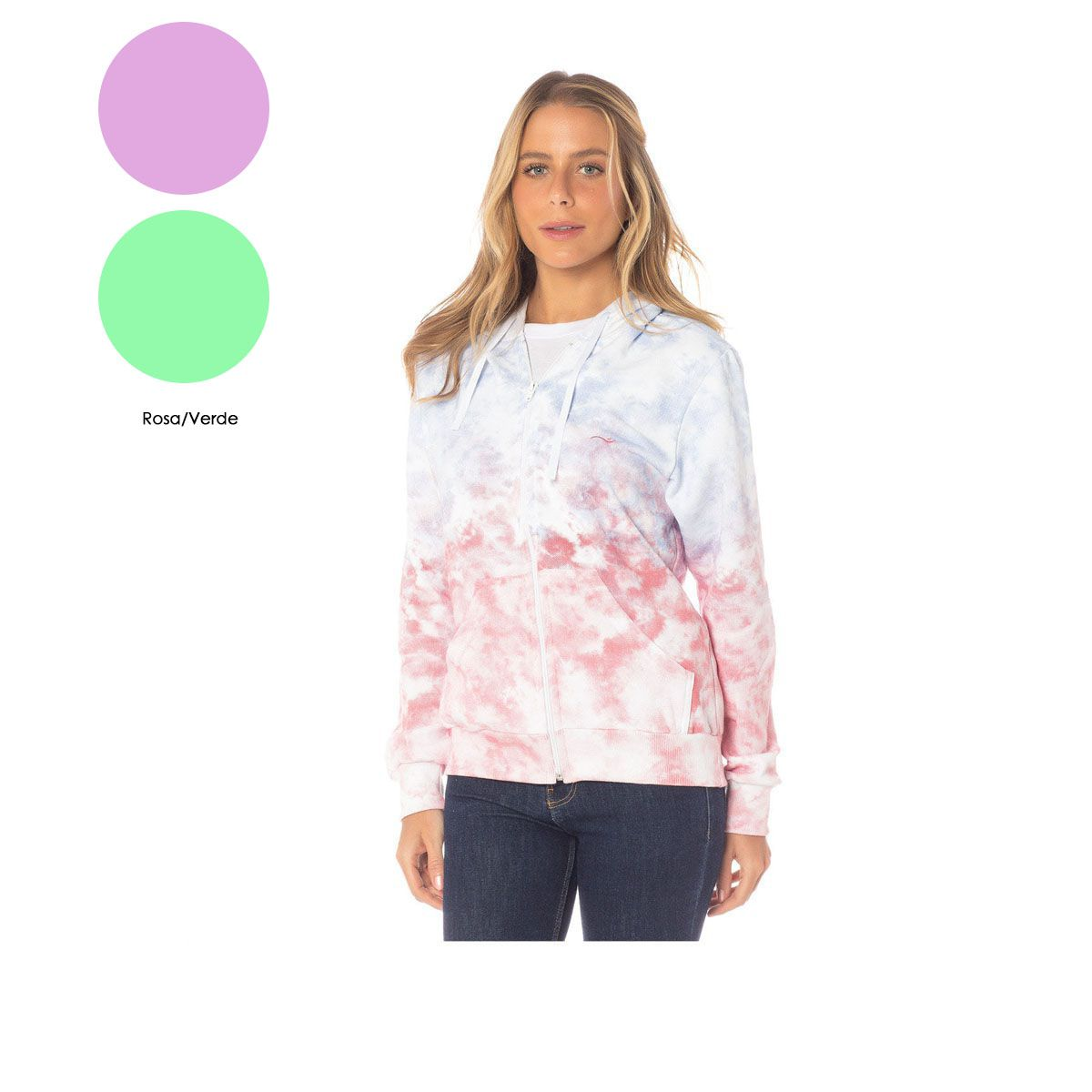Blusa de Moletom Tie Dye Feminina Sba 67090