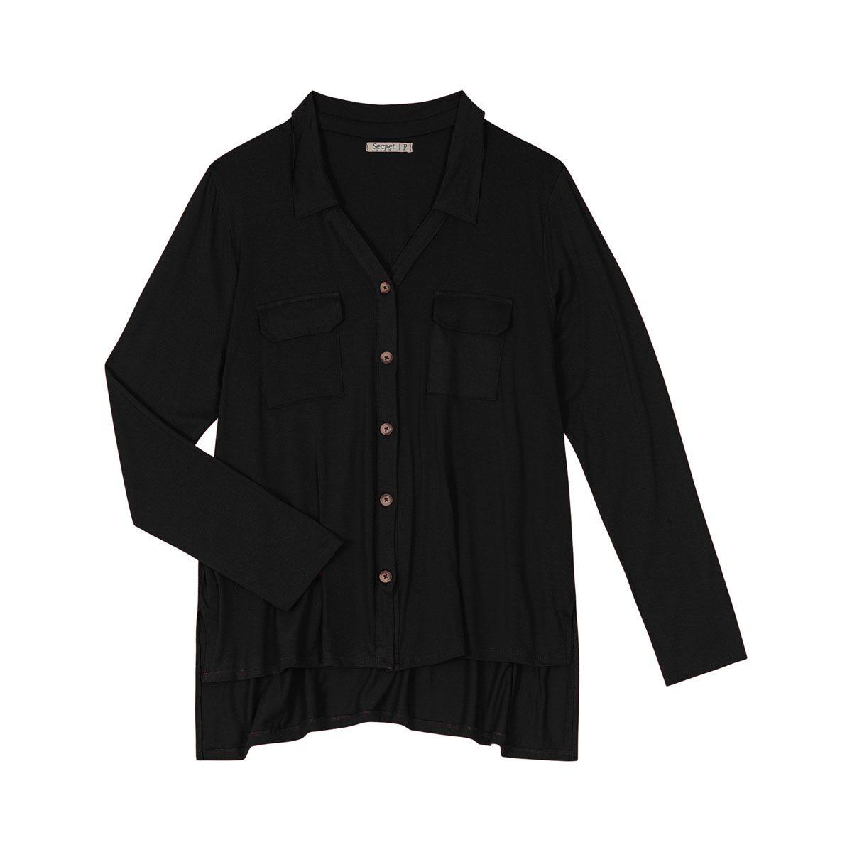 Camisa manga longa Feminina Secret S00692