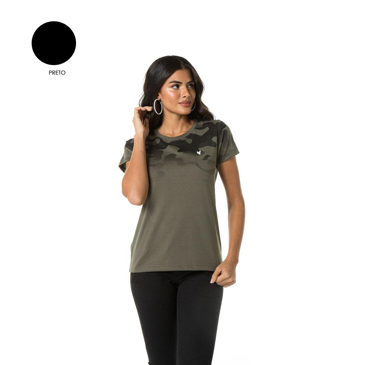Camiseta camuflada Feminina Sba 61129