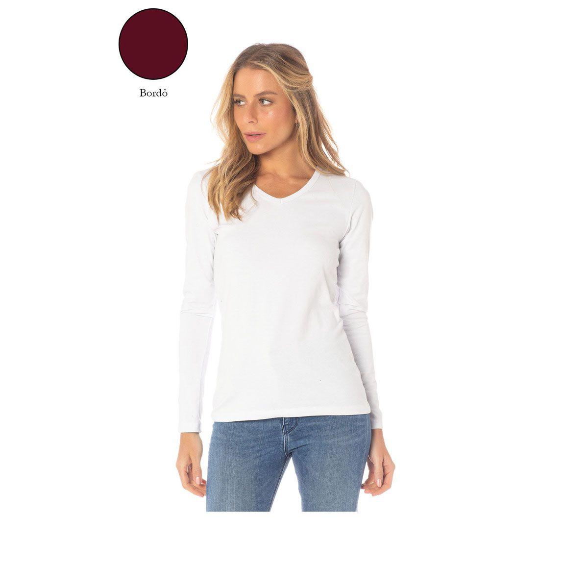 Camiseta Manga Longa Feminina Sba 61122