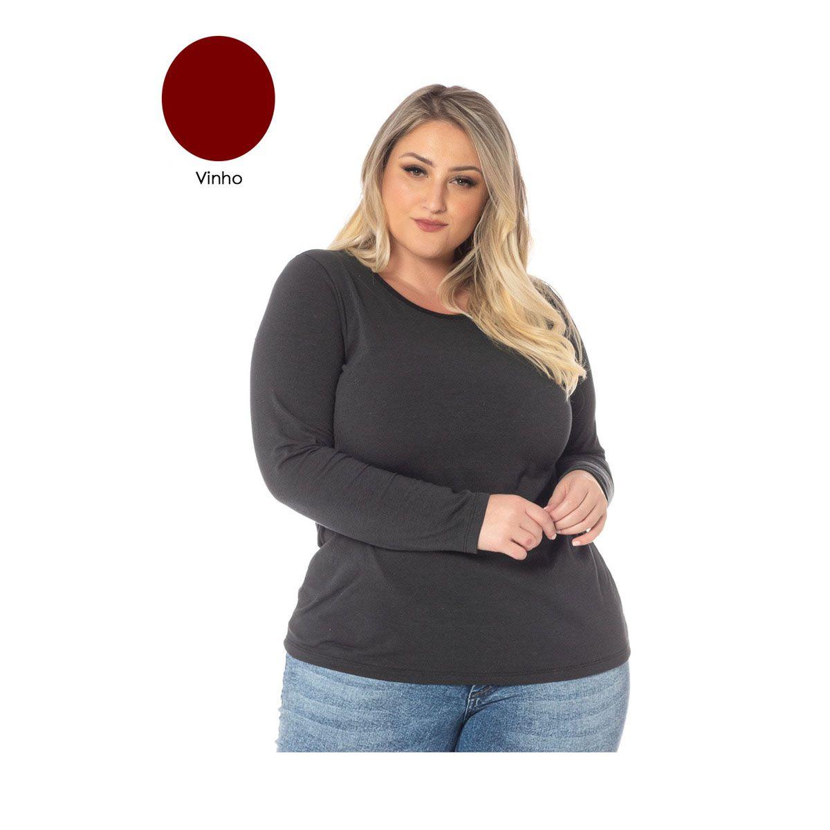 Camiseta Manga Longa Feminina Sba 70013