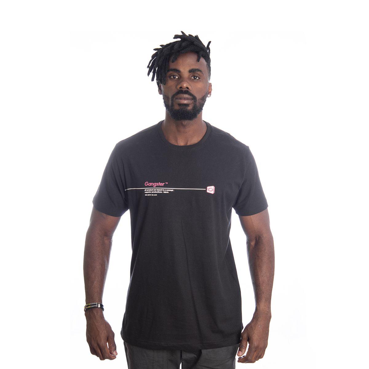 Camiseta Masculina Algodão Gangster Clássica 10.01.9490