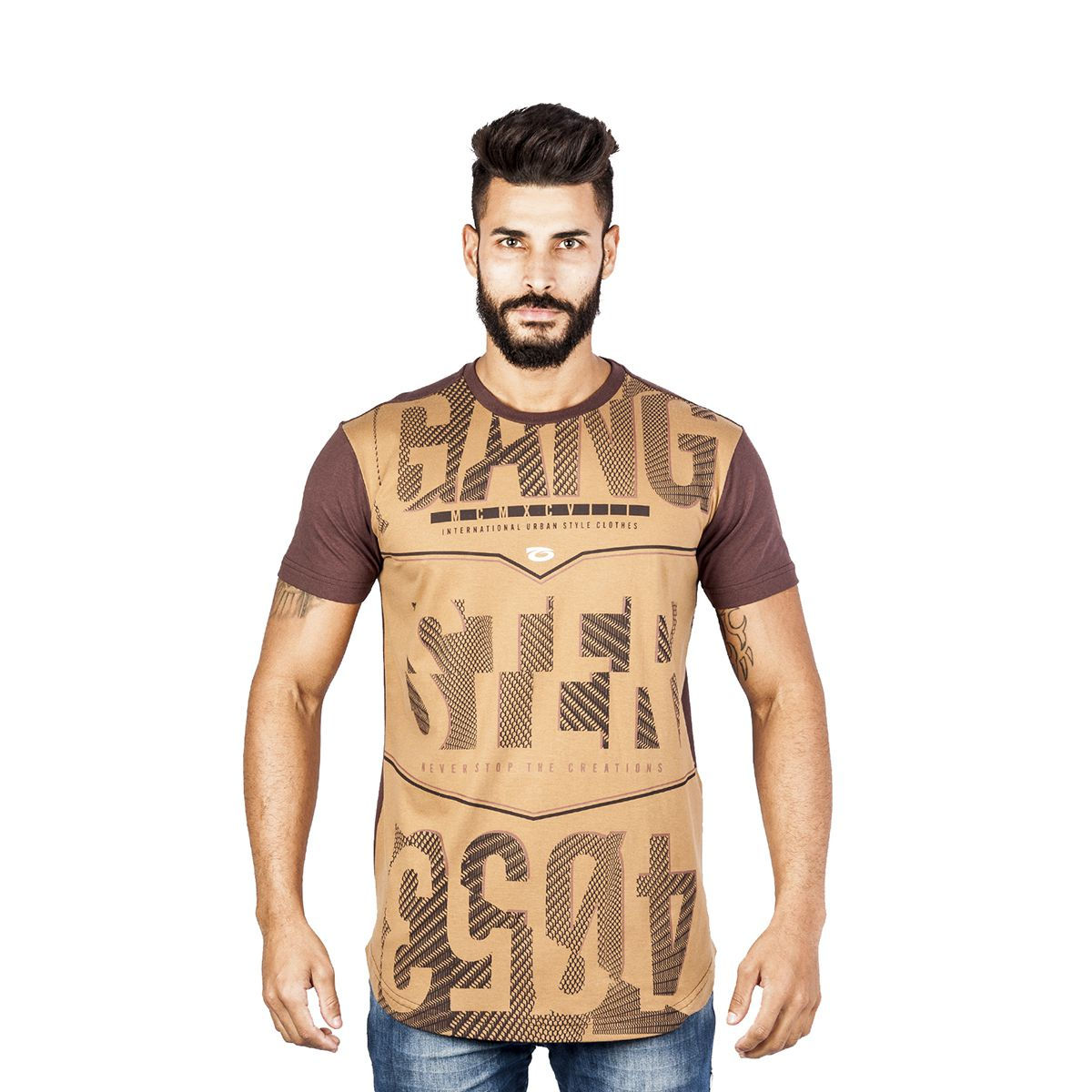 Camiseta Masculina Algodão Gangster Clássica 11.54.0142