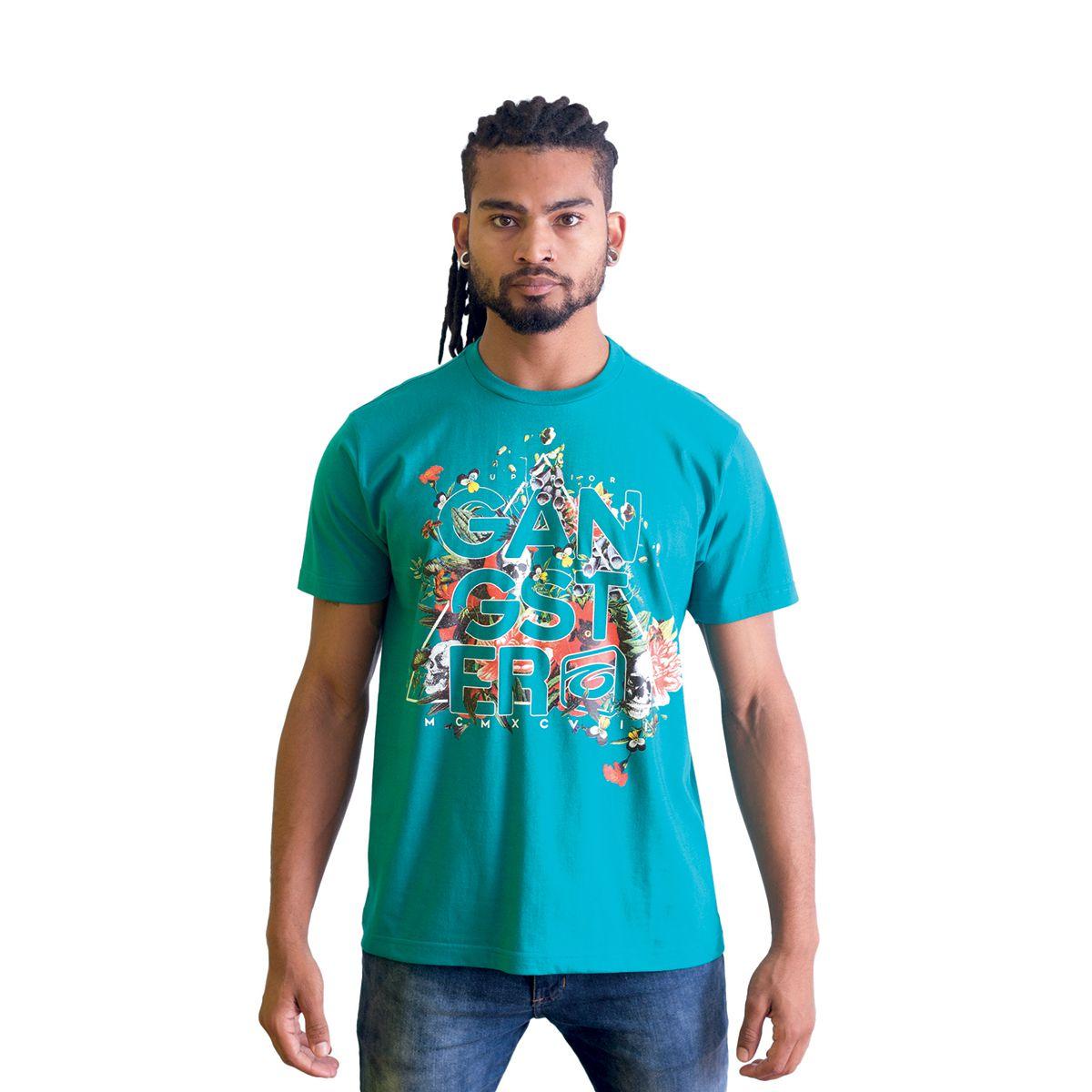 Camiseta Masculina Básica Estampada Gangster 10.01.8514