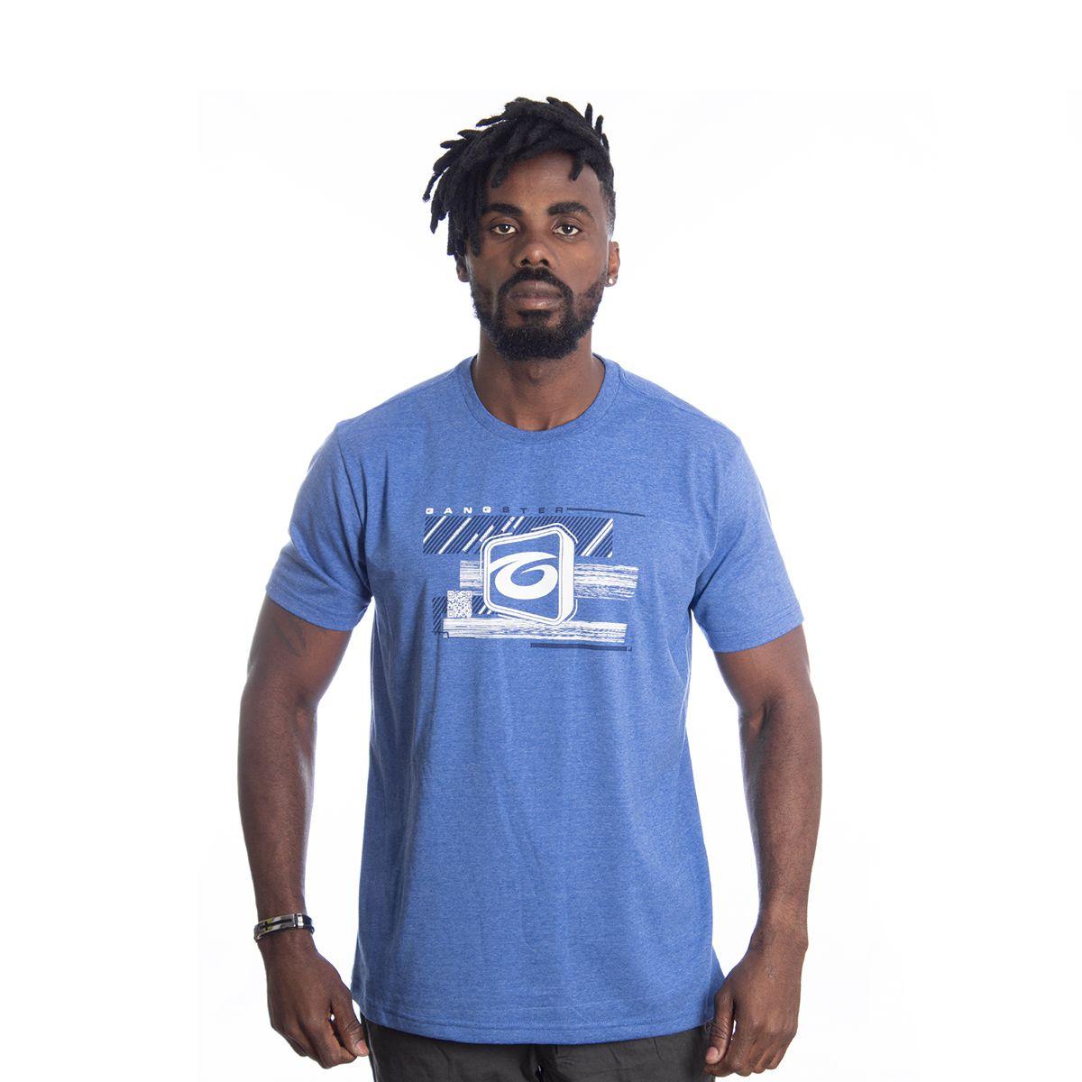 Camiseta Masculina Básica Estampada Gangster 10.01.9513