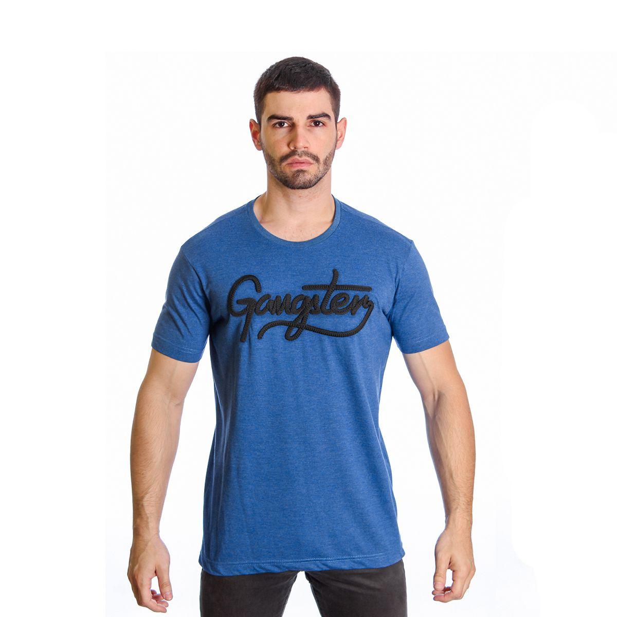 Camiseta Masculina Básica Estampada Gangster 11.19.2505