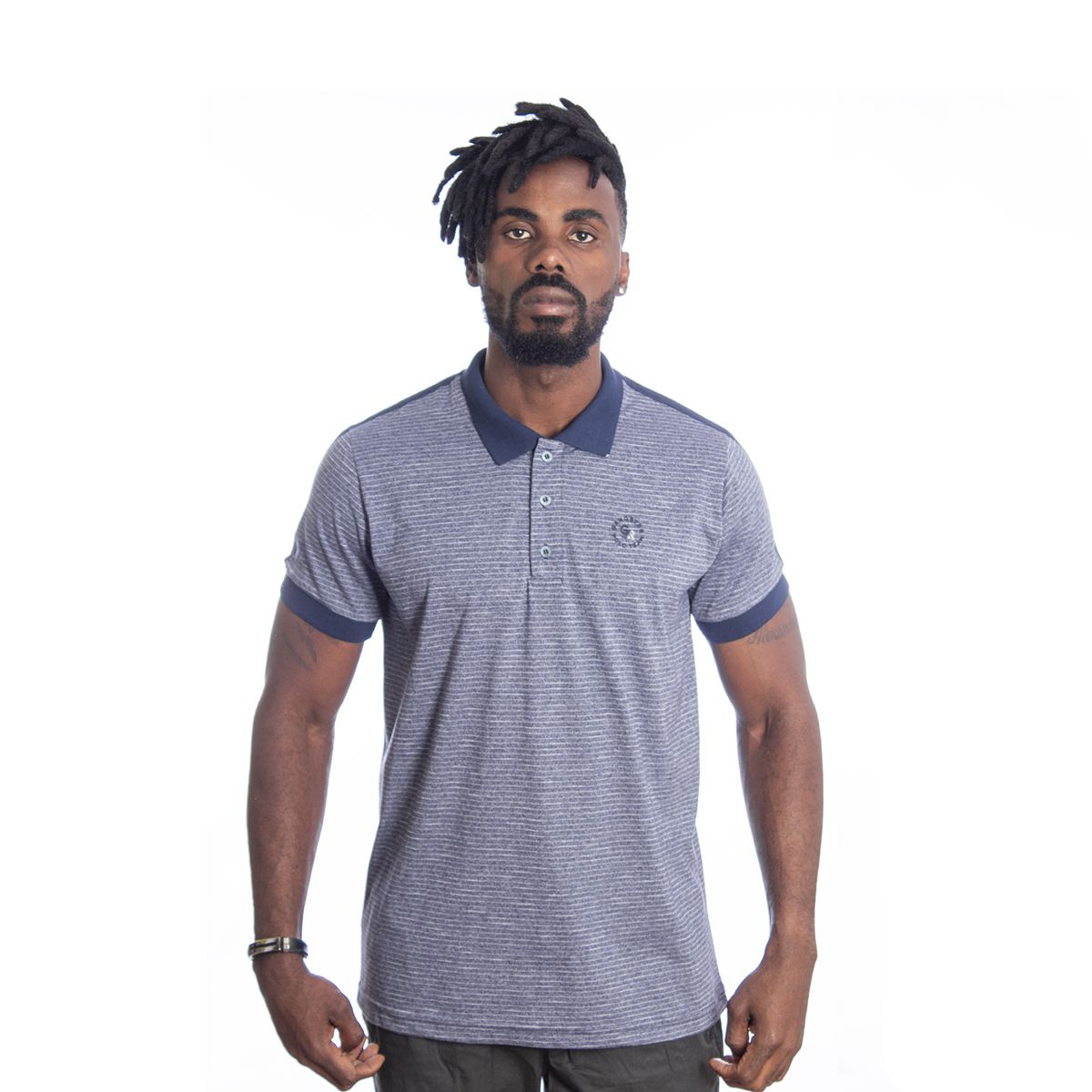 Camiseta Polo Masculina Algodão Gangster Clássica 29.08.0345