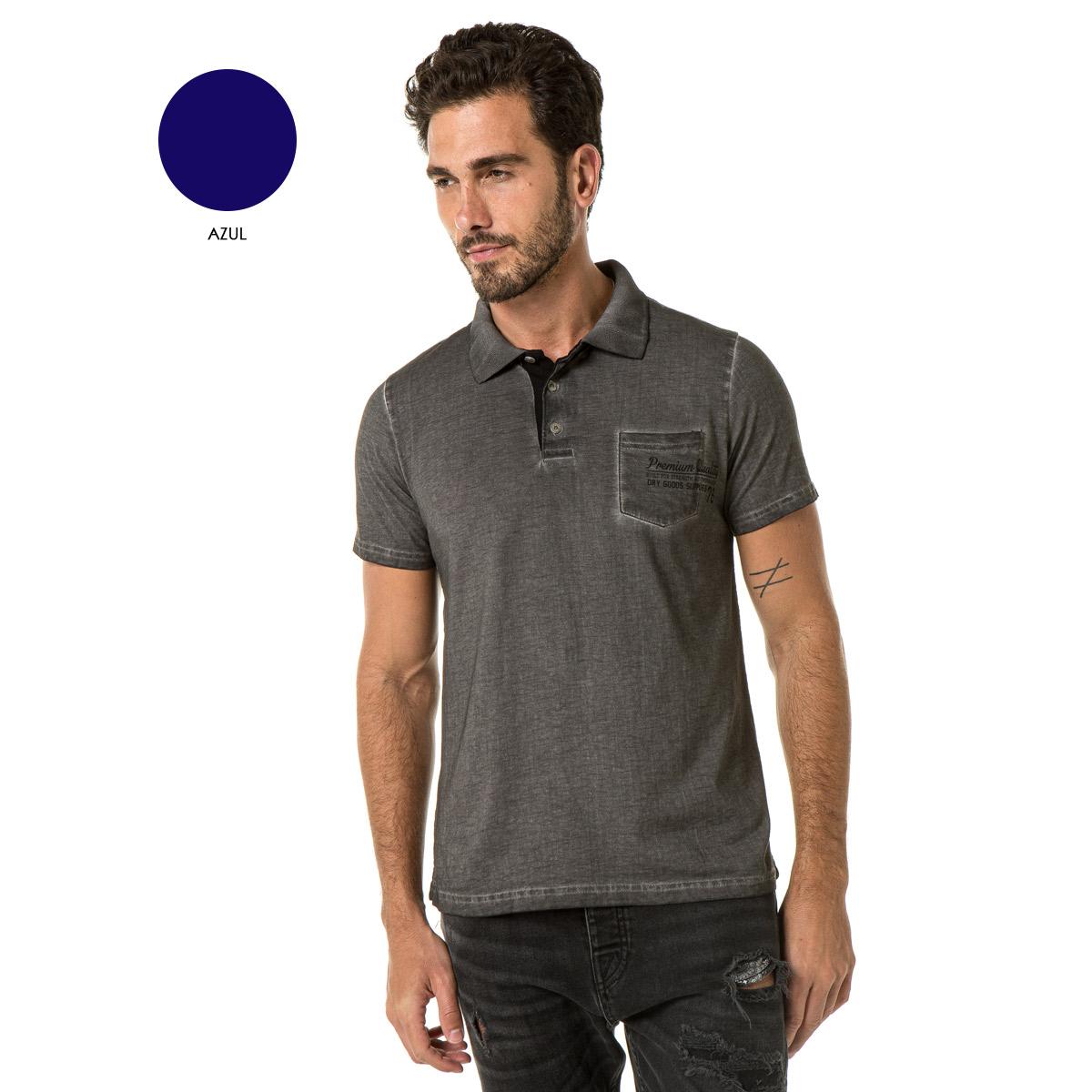 Camiseta Polo Masculina Sba 22185