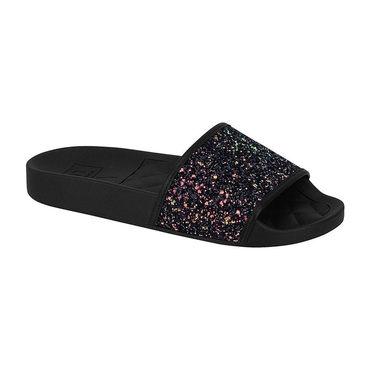 Chinelo Feminino Slide Glitter Moleca 5414.107