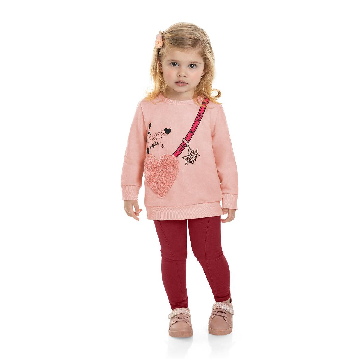 Conjunto Moletom Feminino Infantil Marlan 22546