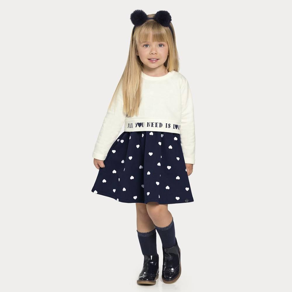 Vestido Infantil Feminino Alakazoo 67473
