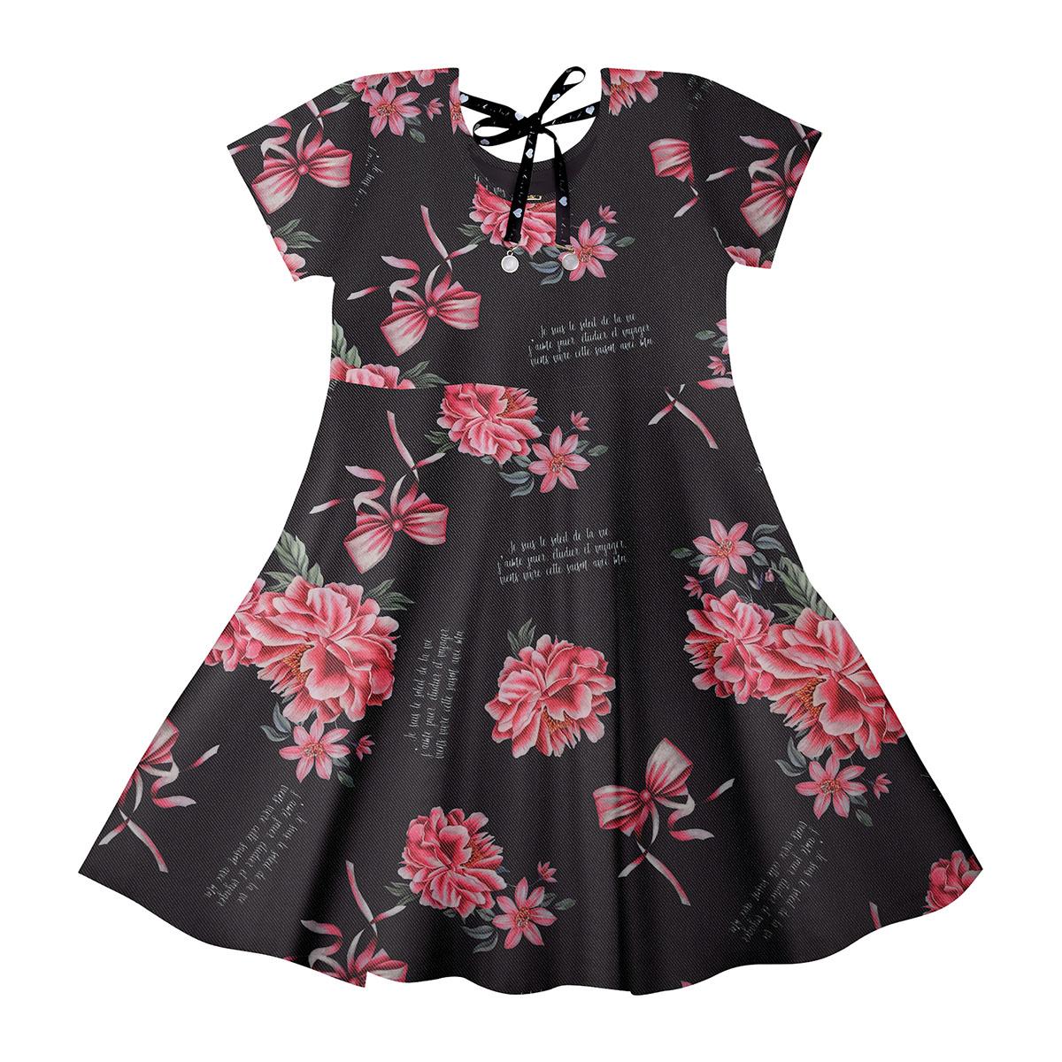 Vestido Infantil Feminino Trick Nick 111796