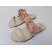 Rasteira Porcelana Laço Contramão Calçados