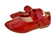 Sapatilha Verniz Vermelha Laço Infanto