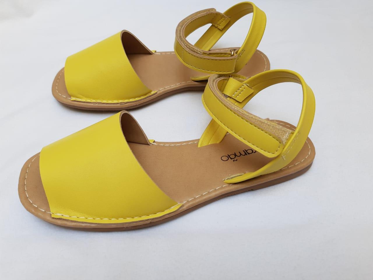 Sandália Avarca Amarelo Contramão Calçados