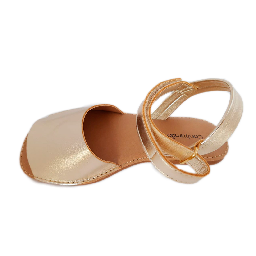 Sandália Avarca Dourada Infantil/Infanto