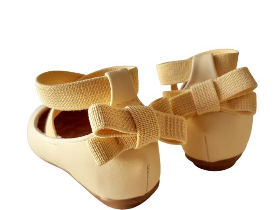Sapatilha Amarelo Candy Napa Tipo Ballet Infantil/Infanto