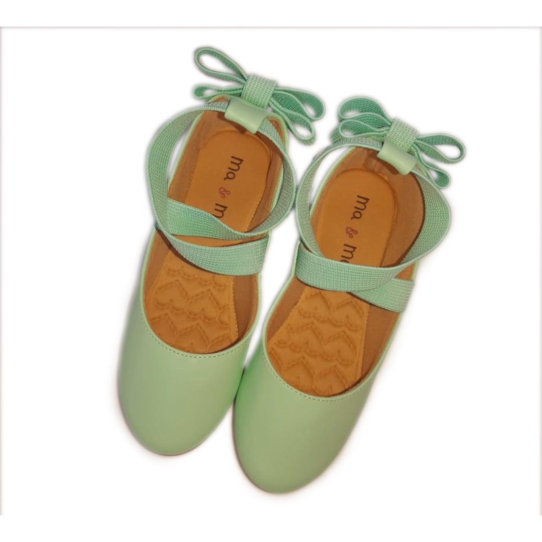 Sapatilha Baby MA & ME  Mint Tipo Ballet Infantil/Infanto