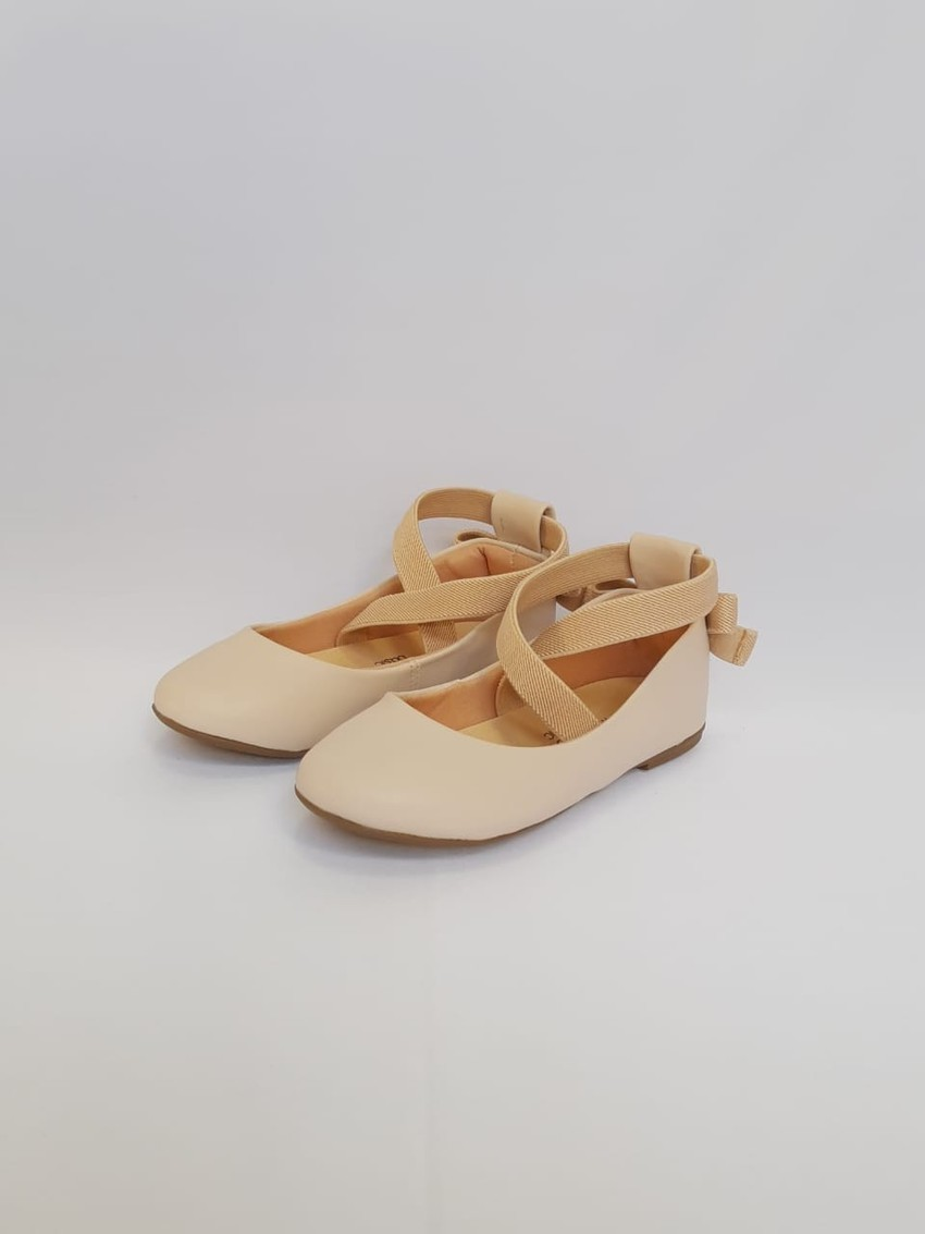 Sapatilha Off White Napa Tipo Ballet Infantil/Infanto