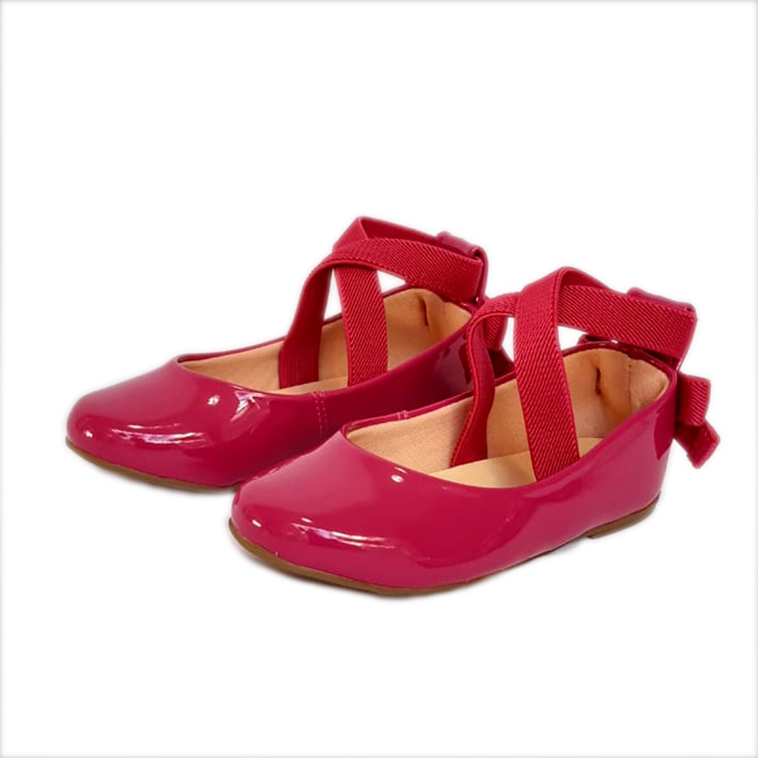 Sapatilha Contramão Pink Verniz Tipo Ballet Infantil/Infanto