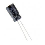 CAPACITOR ELETROLITICO 10UF/100V 6X11 105 FITADO