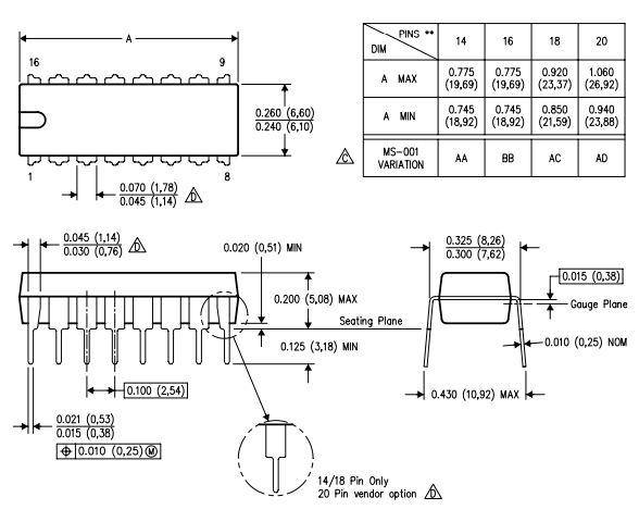 Circuito Integrado SN74LS156N