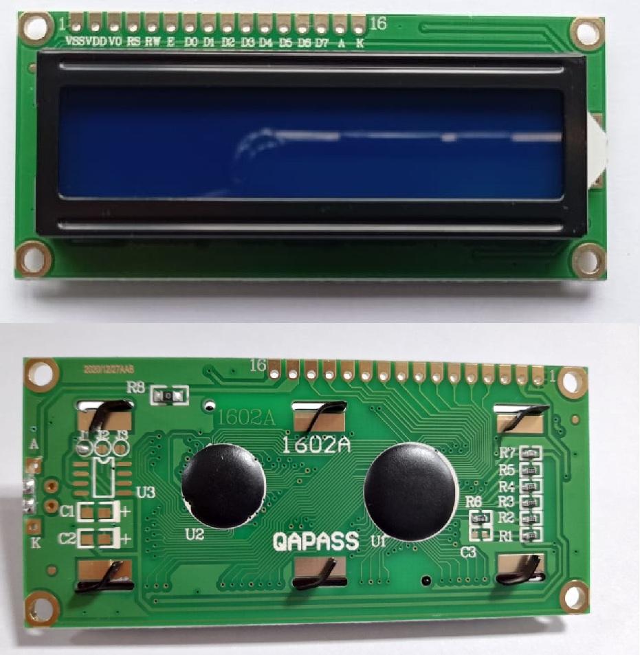 DISPLAY LCD 16X2 AZUL 80X35MM