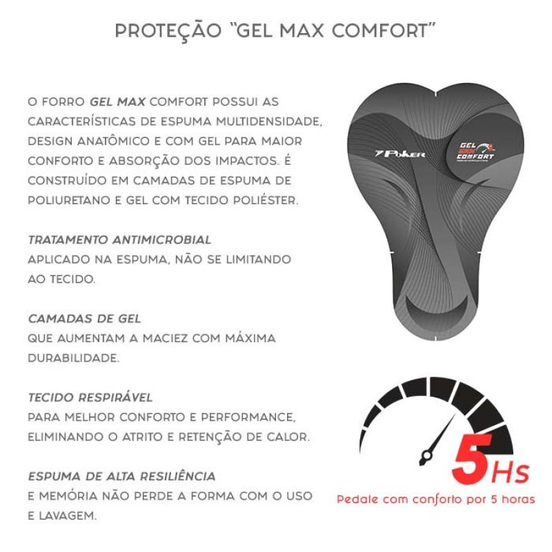 Bermuda Poker Ciclismo Gel Max Comfort